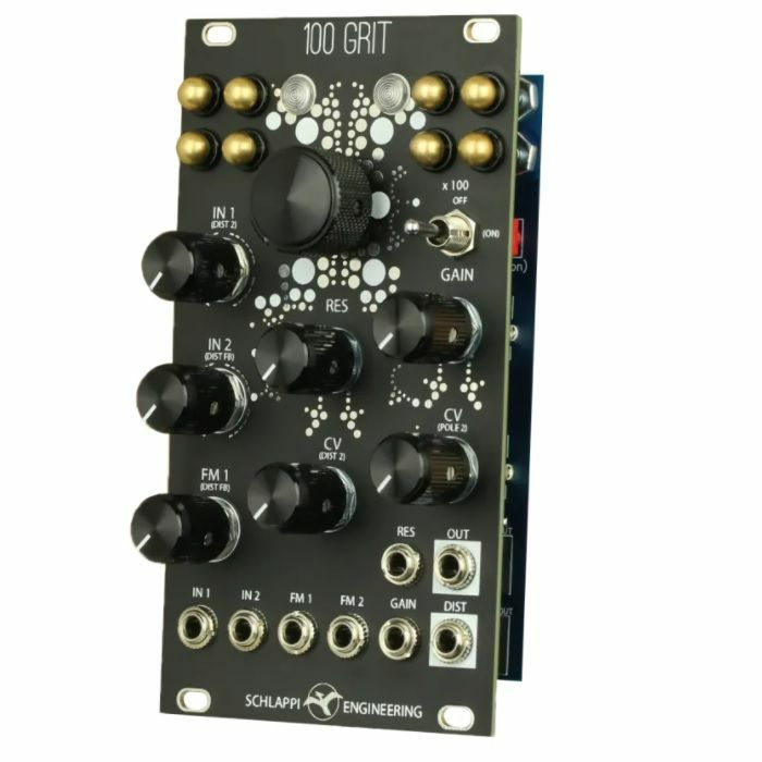 SCHLAPPI ENGINEERING - Schlappi Engineering 100 Grit Touch Controlled Distortion Module (black faceplate)