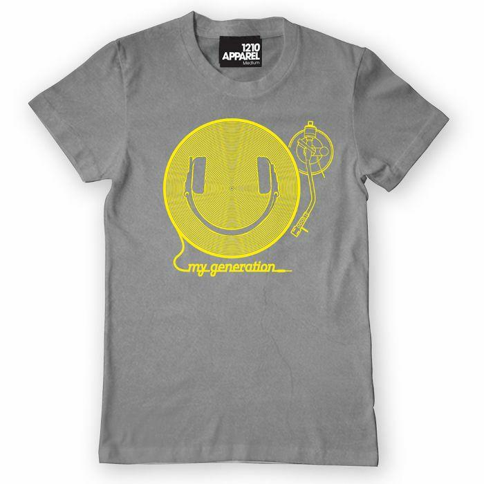DMC - DMC Happy Generation T Shirt (grey with yellow print, medium)
