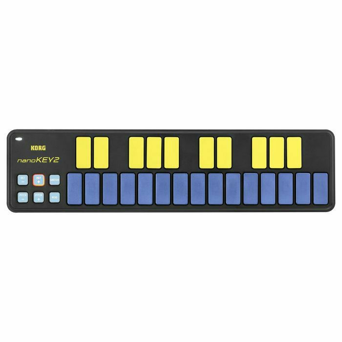 Korg NanoKey 2 25 Key Mini USB MIDI Keyboard Controller (blue & yellow)  (B-STOCK)