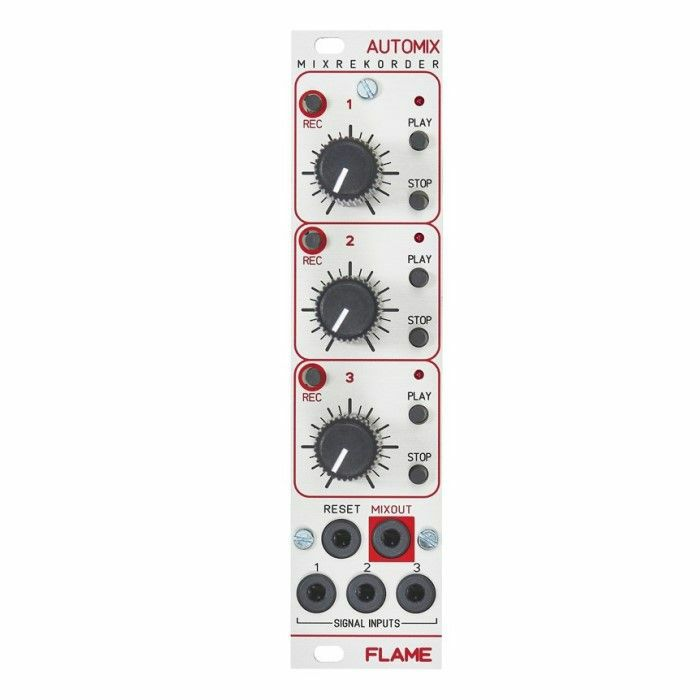FLAME - Flame Automix Mixrekorder Three Channel Audio & CV Mixer & Recorder Module