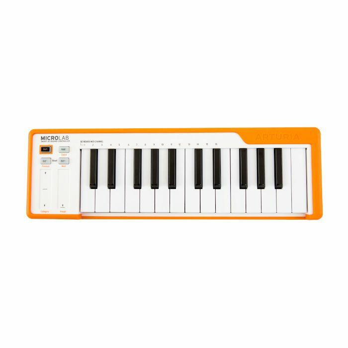 ARTURIA - Arturia MicroLab 25 Key USB MIDI Controller Keyboard (Orange & White)