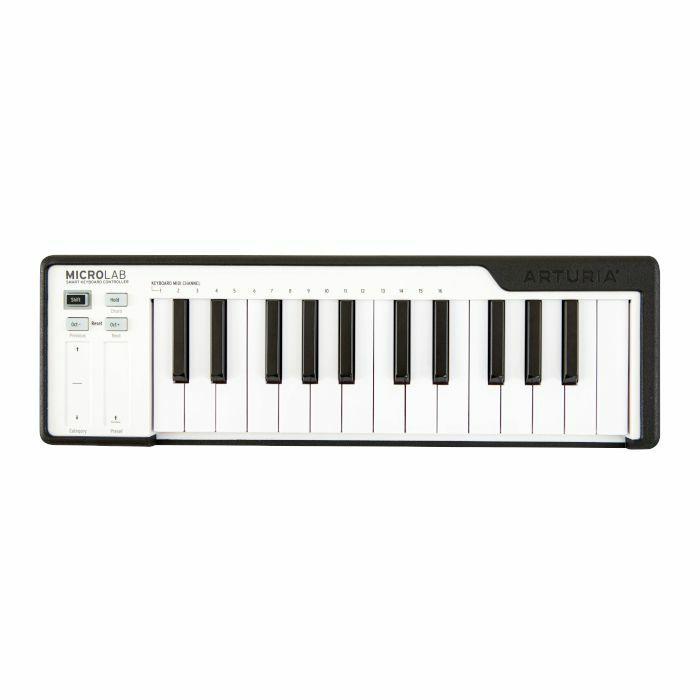 ARTURIA - Arturia MicroLab 25 Key USB MIDI Controller Keyboard (Black & White)