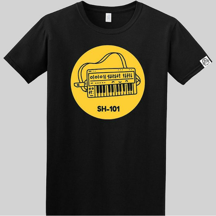 DING DONG - Ding Dong SH101 T Shirt (black with yellow print, large)