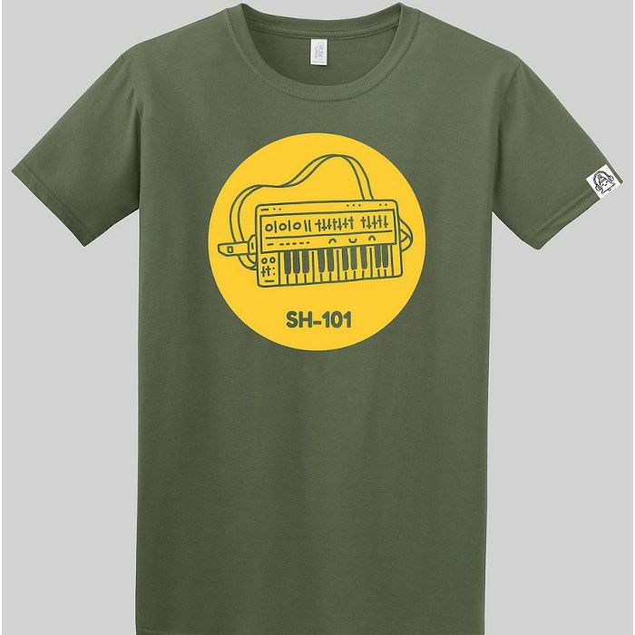 DING DONG - Ding Dong SH101 T Shirt (green with yellow print, large)