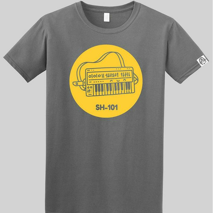 DING DONG - Ding Dong SH101 T Shirt (grey with yellow print, medium)