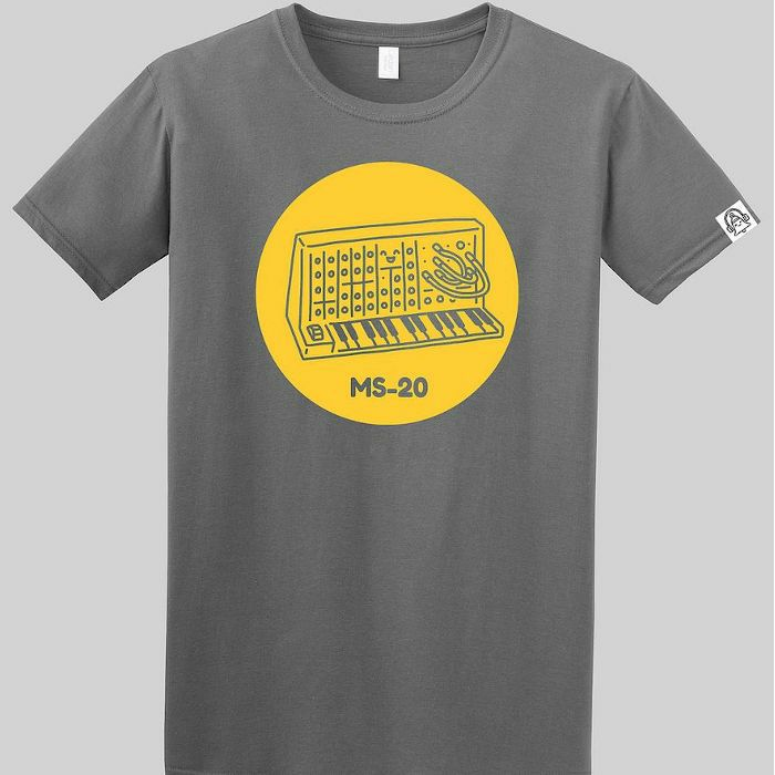 DING DONG - Ding Dong MS20 T Shirt (grey with yellow print, large)