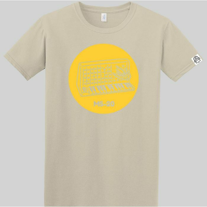 DING DONG - Ding Dong MS20 T Shirt (sand with yellow print, large)