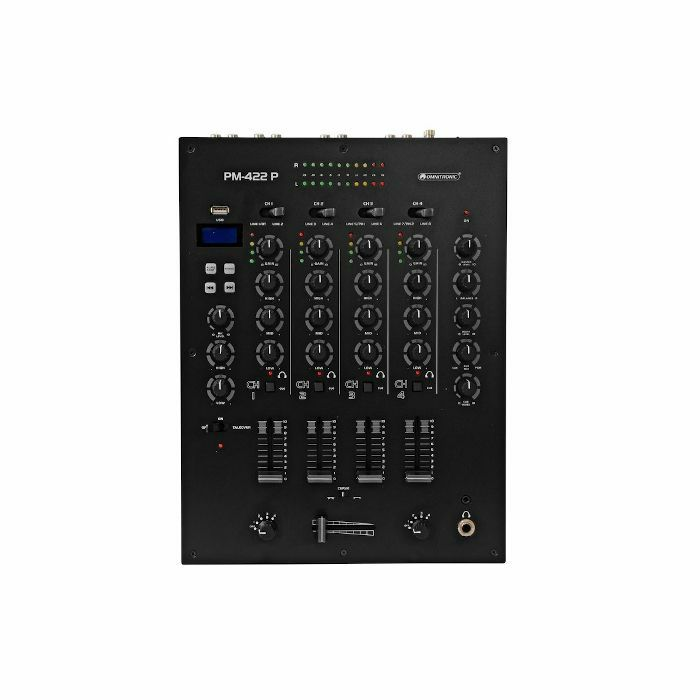 OMNITRONIC - Omnitronic PM422P 4 Channel DJ Mixer With Bluetooth & USB Player