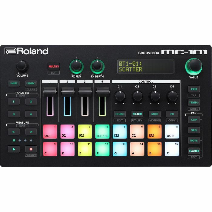 ROLAND - Roland MC101 Groovebox Drum Machine, Sampler & Sequencer
