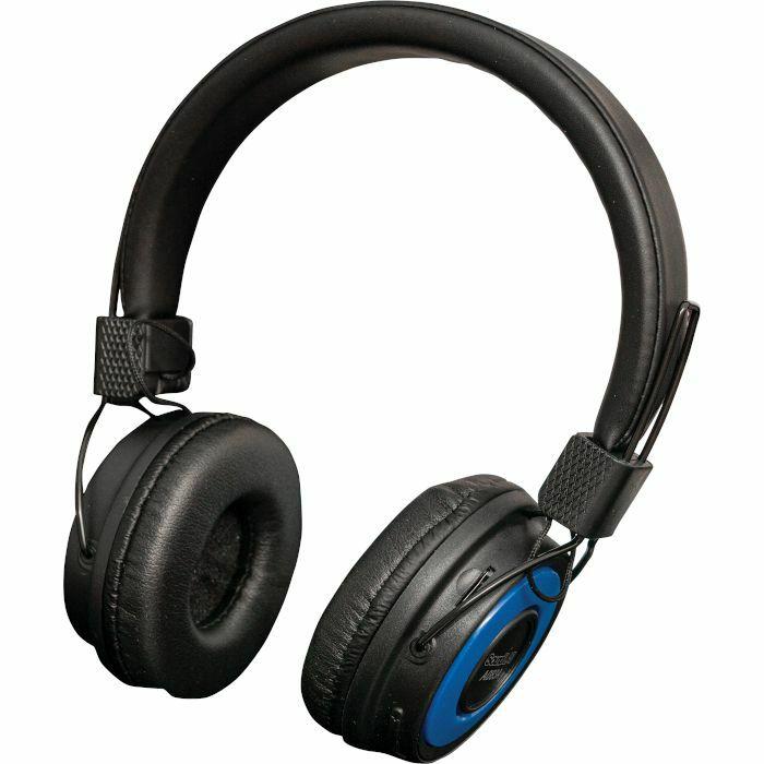 SOUND LAB - Sound LAB Wireless Bluetooth On Ear Headphones (black & blue)