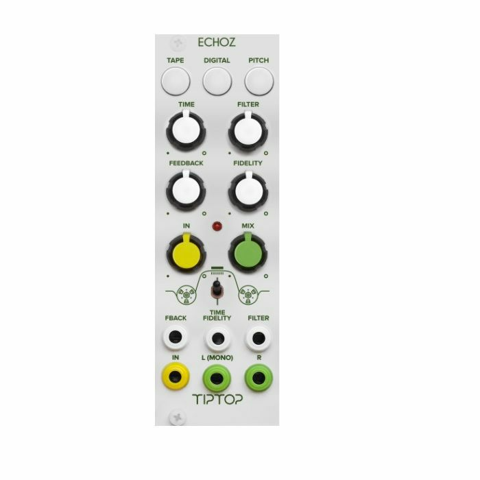 TIPTOP AUDIO - Tiptop Audio ECHOZ Apex Class Delay Repeaters Collection Module (white faceplate)