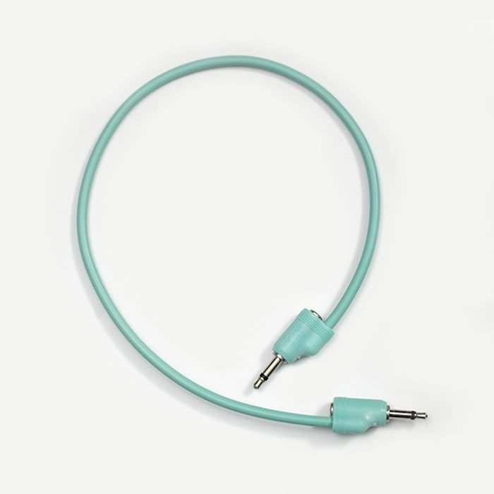 TIPTOP AUDIO - Tiptop Audio 3.5mm Male Mono Stackcable Patch Cable (cyan, 40cm)