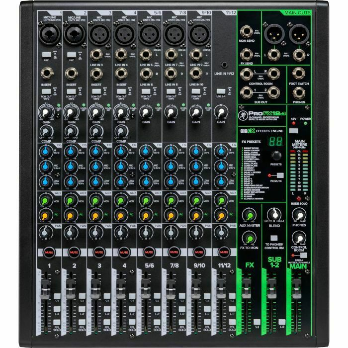 MACKIE - Mackie Pro FX12 v3 Mixer With Built In Effects, USB Recording Interface & Software Bundle