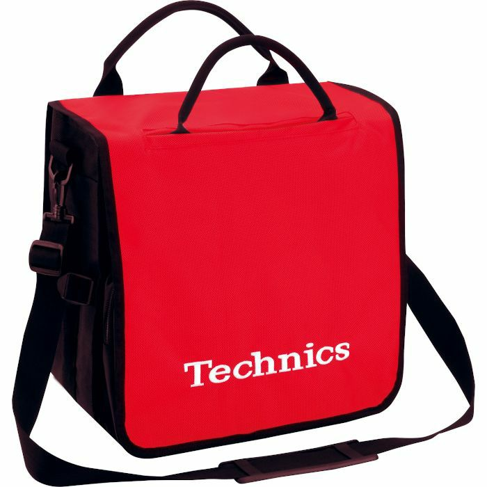 TECHNICS - Technics Backpack 12 Inch LP Vinyl Record Bag (red with white logo, holds up to 45 records)