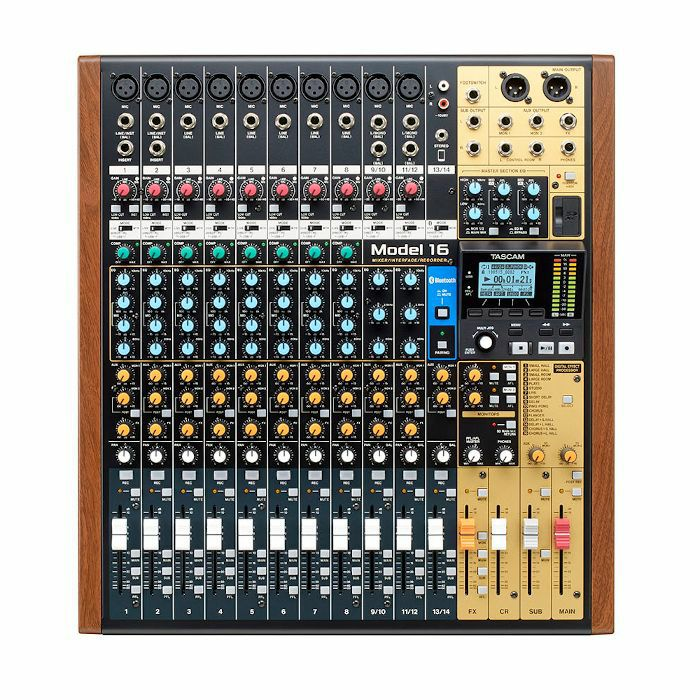 TASCAM - Tascam Model 16 Digital Multitrack Recorder With 14 Channel Analogue Mixer & USB Audio Interface
