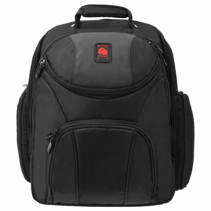 ODYSSEY - Odyssey Redline Series Backspin MK2 DJ DJ Equipment Backpack For Controller + Laptop + Accessories (black & red)