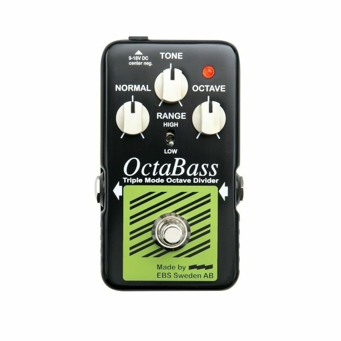 EBS - EBS OctaBass Blue Label Triple Mode Analogue Octave Divider Pedal