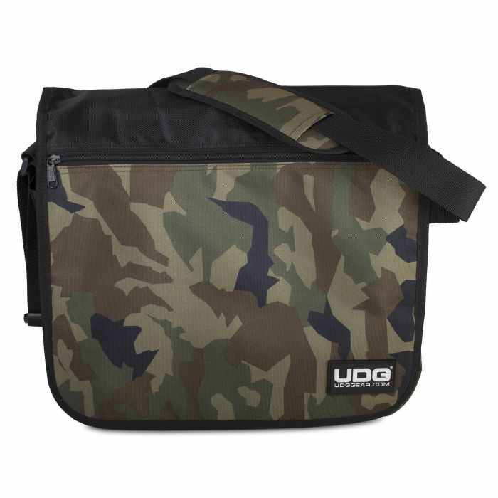 UDG - UDG Courier 12 Inch Vinyl Record Bag (black camo/orange)