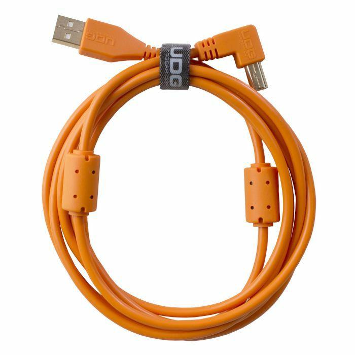 UDG - UDG Ultimate Angled USB 2.0 A-B Audio Cable (orange, 2.0m)