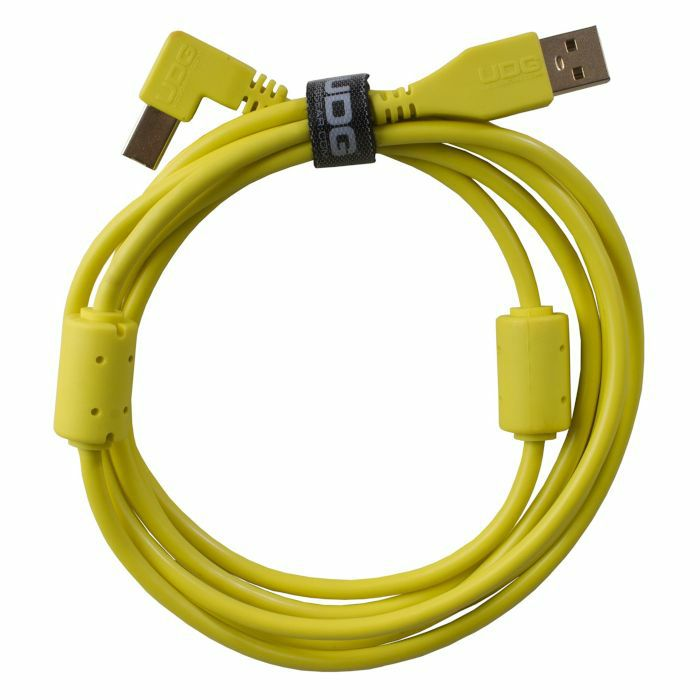 UDG - UDG Ultimate Angled USB 2.0 A-B Audio Cable (yellow, 2.0m)