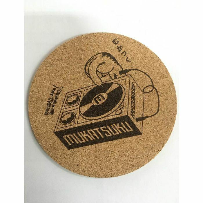 MUKATSUKU - Mukatsuku Cork Drinks Coaster (logo design, pack of 4) *Juno Exclusive*