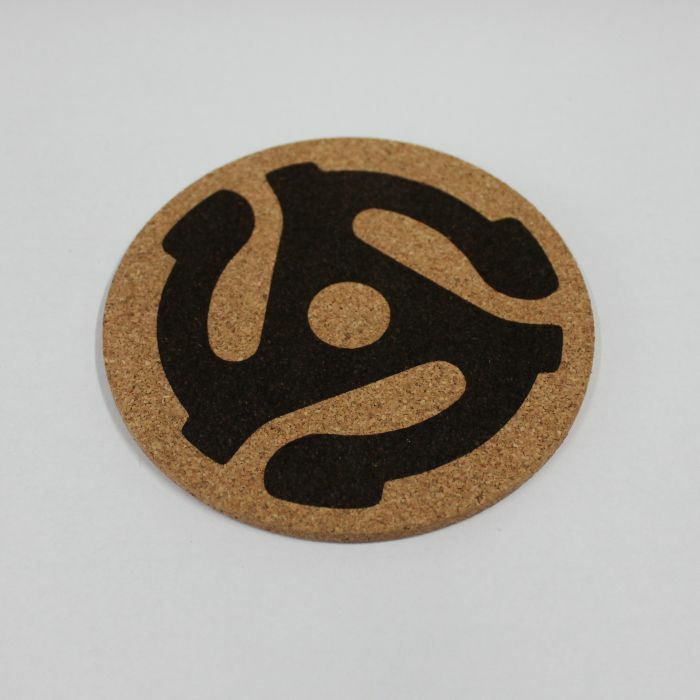 MUKATSUKU - Mukatsuku Cork Drinks Coaster (black adapter design, pack of 4) *Juno Exclusive*