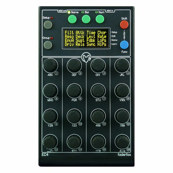 FADERFOX - Faderfox Micromodul EC4 Encoder USB MIDI Controller
