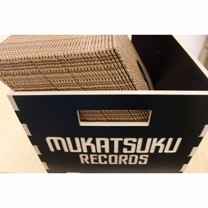 MUKATSUKU - Mukatsuku 12 Inch Wooden Vinyl Record Box / Record Crate For LP's: Black Edition (holds up to 60 records) *Juno Exclusive*