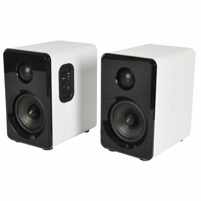 AV LINK - AV Link ABS35 Active Bluetooth Bookshelf Speakers (pair, white)