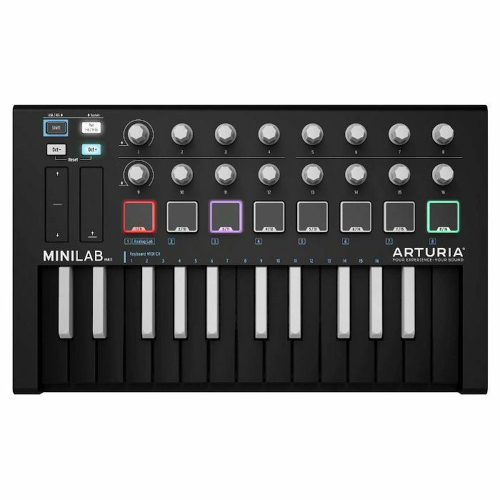 ARTURIA - Arturia MiniLab MKII USB Controller Keyboard & Software Bundle (limited inverted colourway edition)