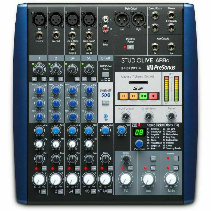 PRESONUS - Presonus StudioLive AR8C USB C Mixer With Audio Interface & Stereo SD Recorder *** GET 3 MONTHS OF FREE AUTOTUNE UNLIMITED WITH THIS PRODUCT IF PURCHASED BETWEEN 1st MARCH-31st MAY 2021 ***