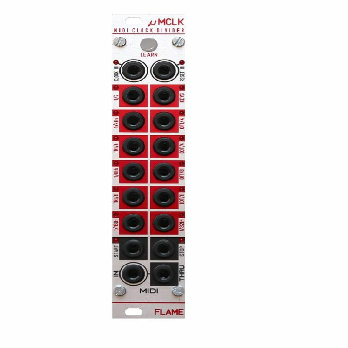 FLAME - Flame uMCLK MIDI To Clock Divider Module