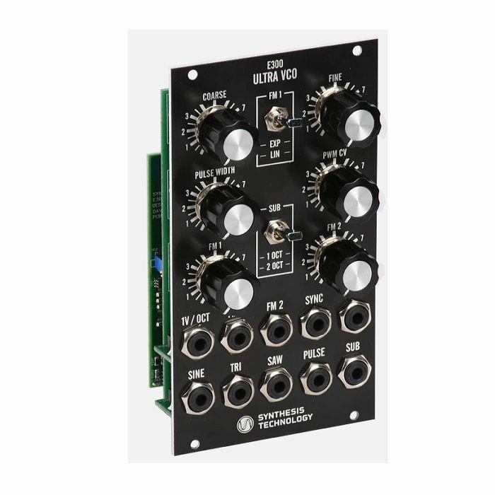 SYNTHESIS TECHNOLOGY - Synthesis Technology E300 Ultra VCO Module (black faceplate)