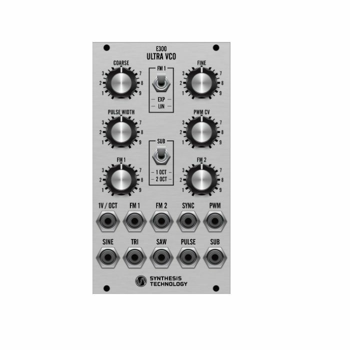 SYNTHESIS TECHNOLOGY - Synthesis Technology E300 Ultra VCO Module (silver faceplate)