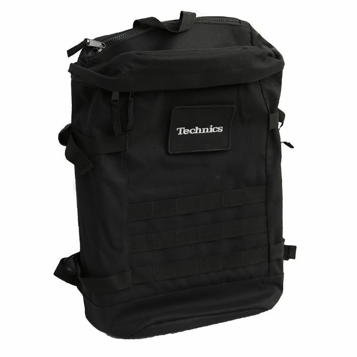 DMC - DMC Technics Vinyl Record DJ Utility Backpack 25 (black with silver embroidered logo)