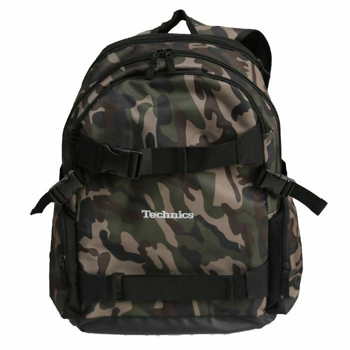 DMC - DMC Technics Old School Board Pack Vinyl Record DJ Backpack 25 (camo with silver embroidered logo)