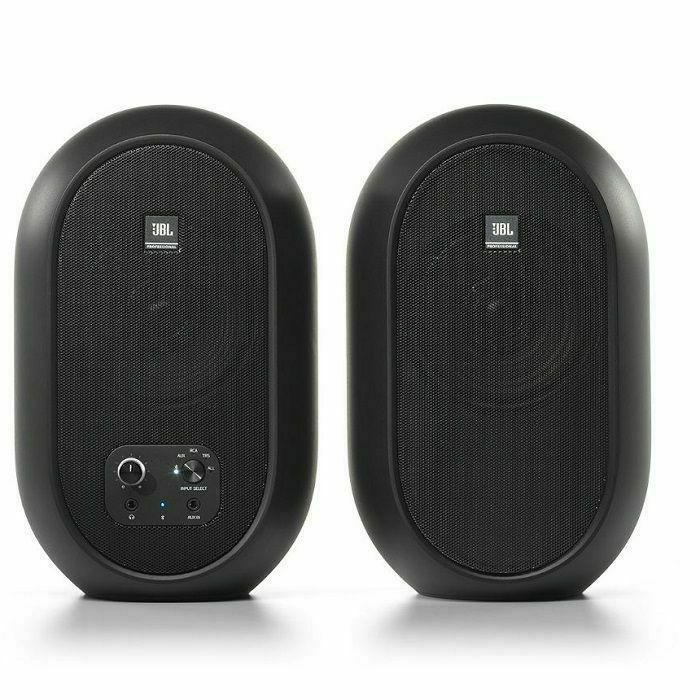 JBL - JBL 104 BT Compact Powered Studio Reference Monitors With Bluetooth (pair, black)