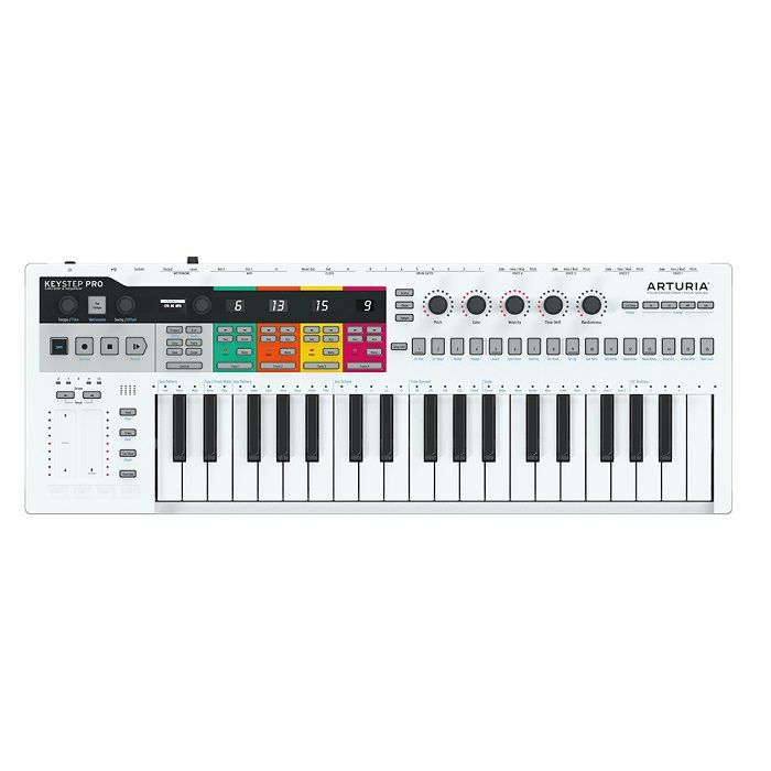 ARTURIA - Arturia KeyStep Pro 37 Key Portable USB MIDI Keyboard Controller & Multi Channel Polyphonic Sequencer