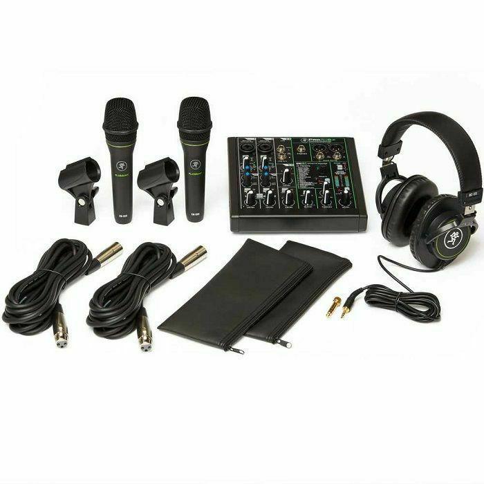 MACKIE - Mackie Performer Bundle (includes ProFX6v3 mixer, 2 x EM-89D mics, MC-100 headphones, software suite & accessories)