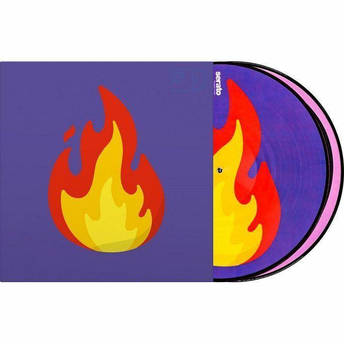 SERATO - Serato Reversible Emoji Picture Disc #2 Flame/Record 12 Inch Control Vinyl (pair)