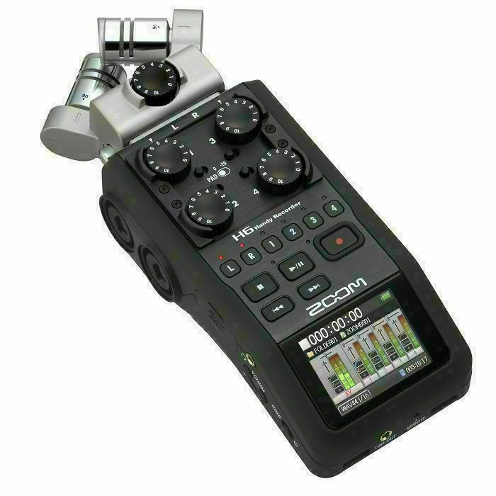 ZOOM - Zoom H6 Handy Handheld Digital Audio Recorder (black)