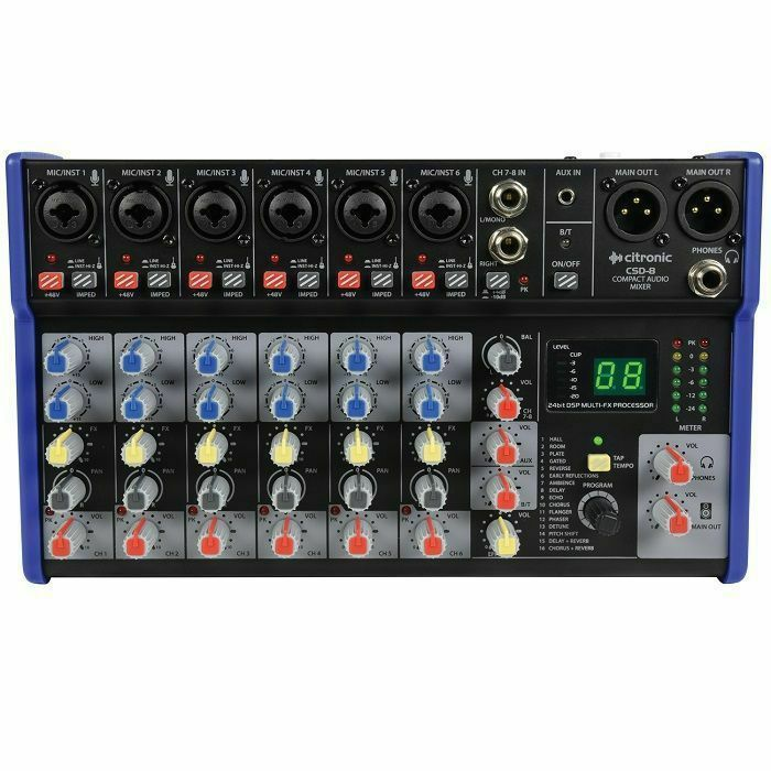 CITRONIC - Citronic CSD8 Compact Mixer with BT and DSP Effects
