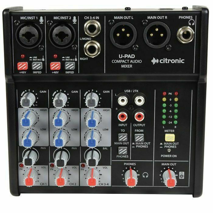 CITRONIC - Citronic U PAD Compact Mixer with USB Interface