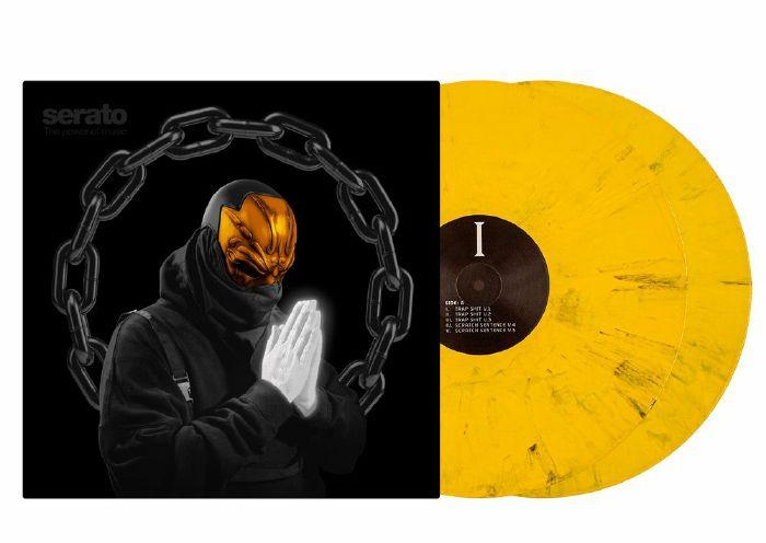 SERATO - Serato UZ Real Trap Shit 1-5 12 Inch Control Vinyl (pair, yellow with black detailing)