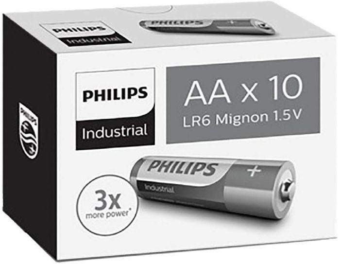PHILIPS - Philips Industrial Alkaline Type AA Batteries (box of 10)