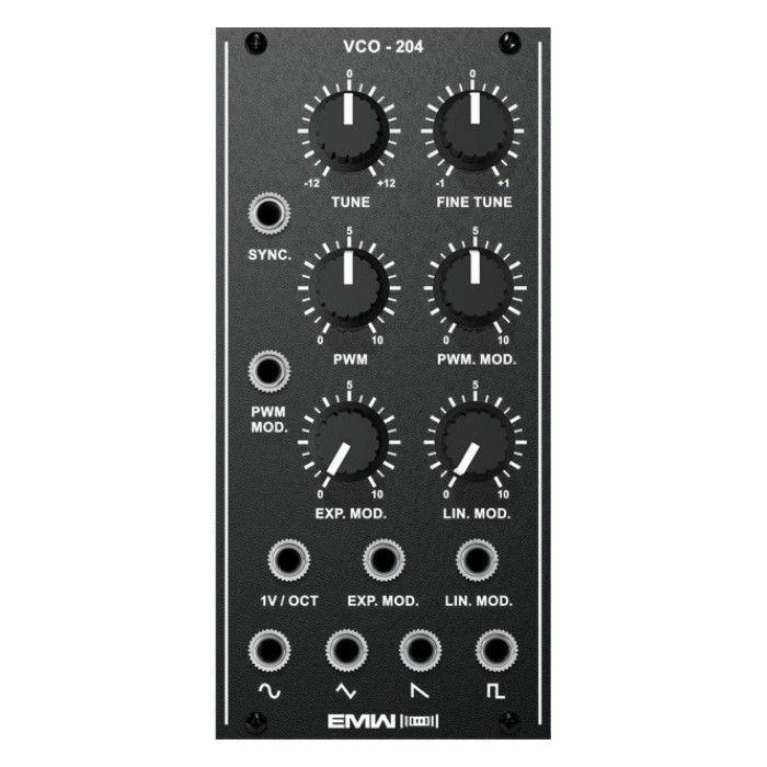 EMW - EMW VCO204 Analog Voltage Controlled Oscillator Module (black faceplate)