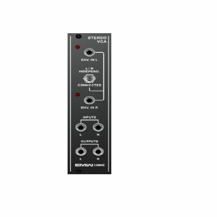 EMW - EMW Stereo VCA Voltage Controlled Amplifier Module (black faceplate)