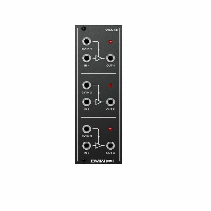 EMW - EMW Triple Voltage Controlled Amplifier Module (black faceplate)