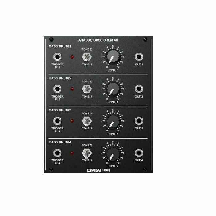 EMW - EMW Analog Bass Drum 4X Module (black faceplate)