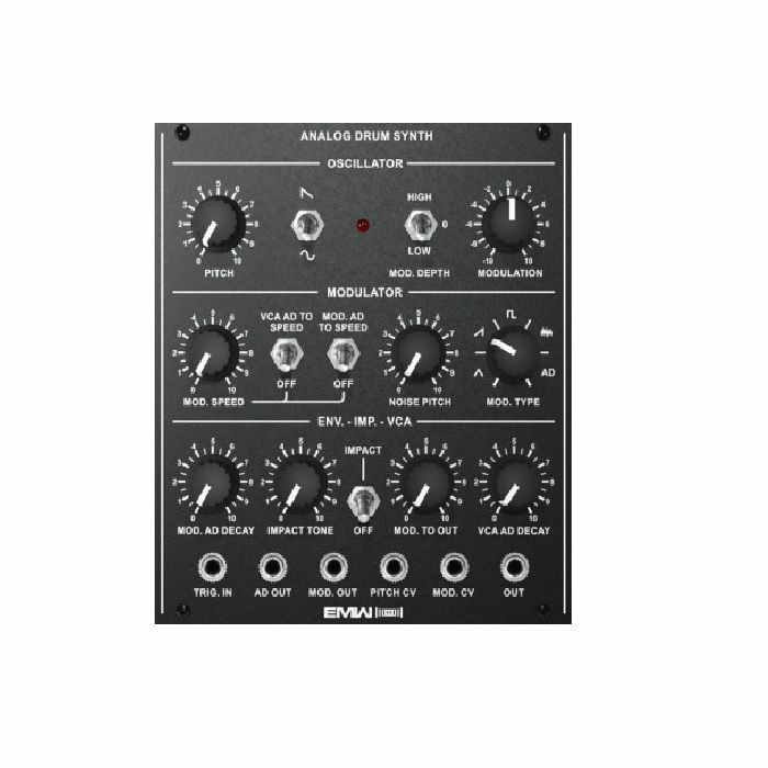 EMW - EMW Analog Drum Synth Module (black faceplate)